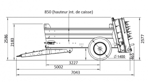 JOSKIN-Nouveau modèle d'épandeur de fumier: SIROKO S4008/8V