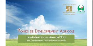 Aides financières Plan Maroc Vert
