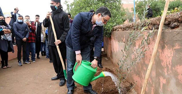 Al Haouz inauguration du système irrigation solaire dans la pépinière Akrich